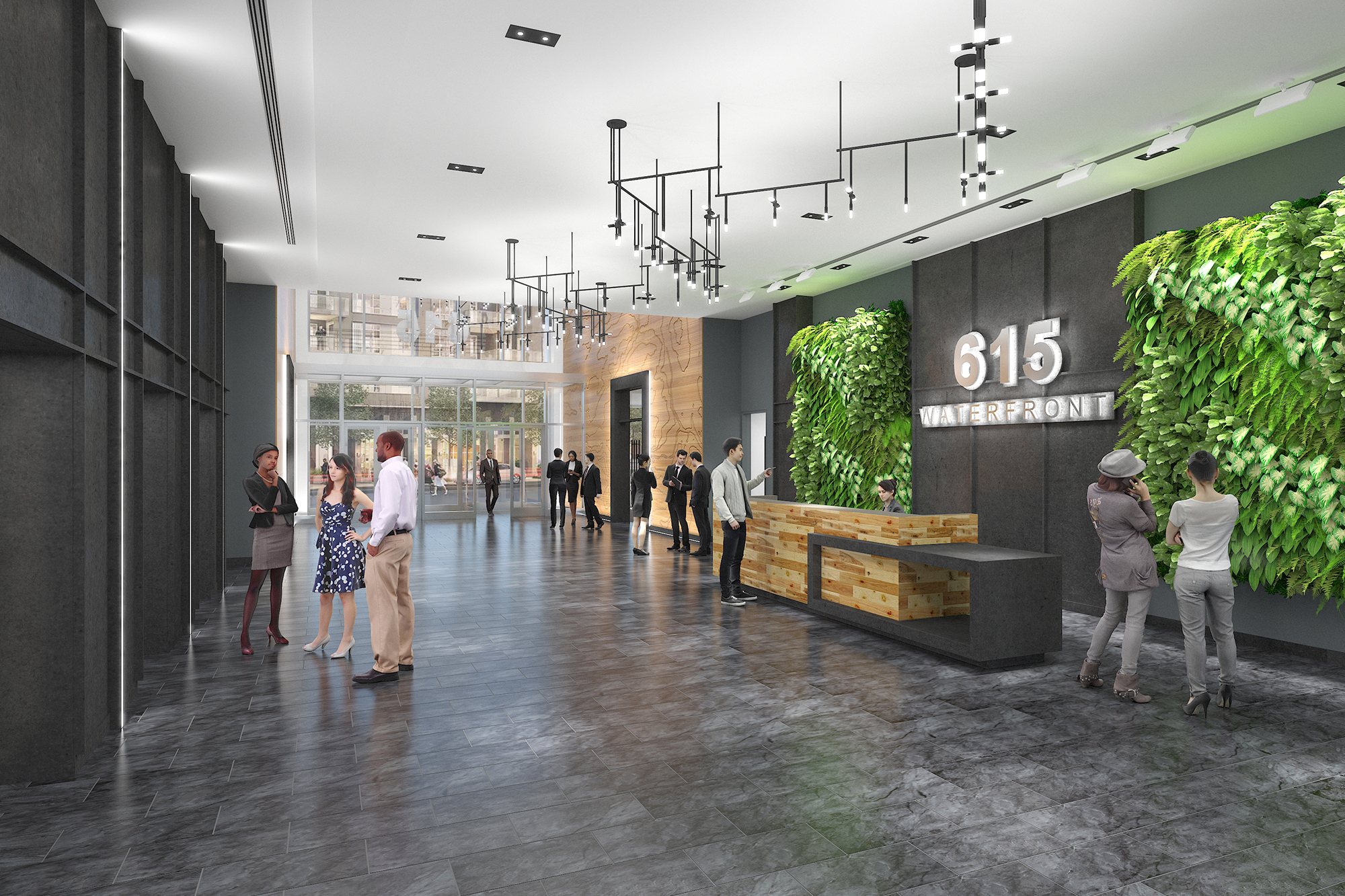 615 Waterfront Lobby